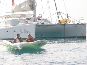Catamaran Sailing Charter on Yes Dear